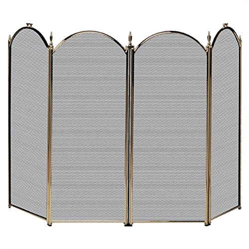 Pemberly Row 4 Fold Antique Brass Screen by Pemberly Row