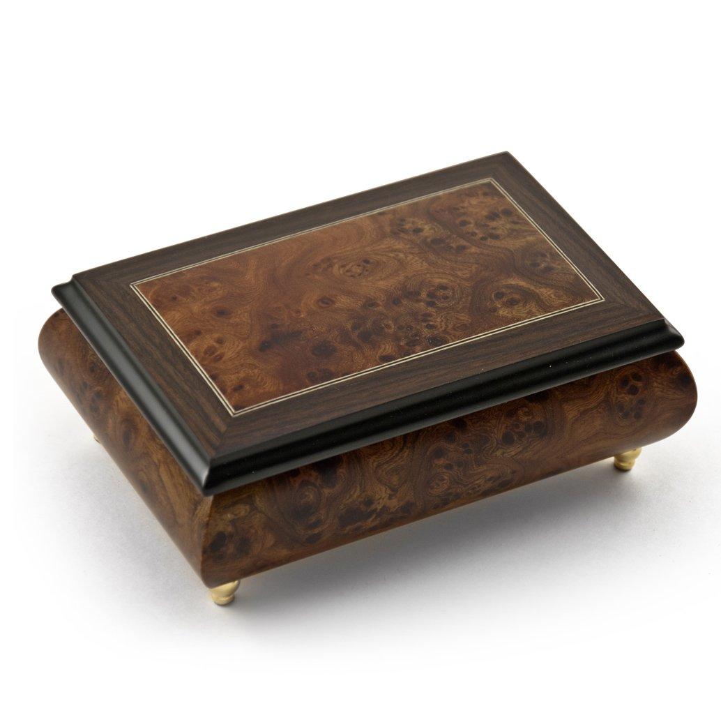 Alluring 30 Note Neutral Tone Modern Music Box with Rosewood Frame - Kiss The Rain, (Yiruma)