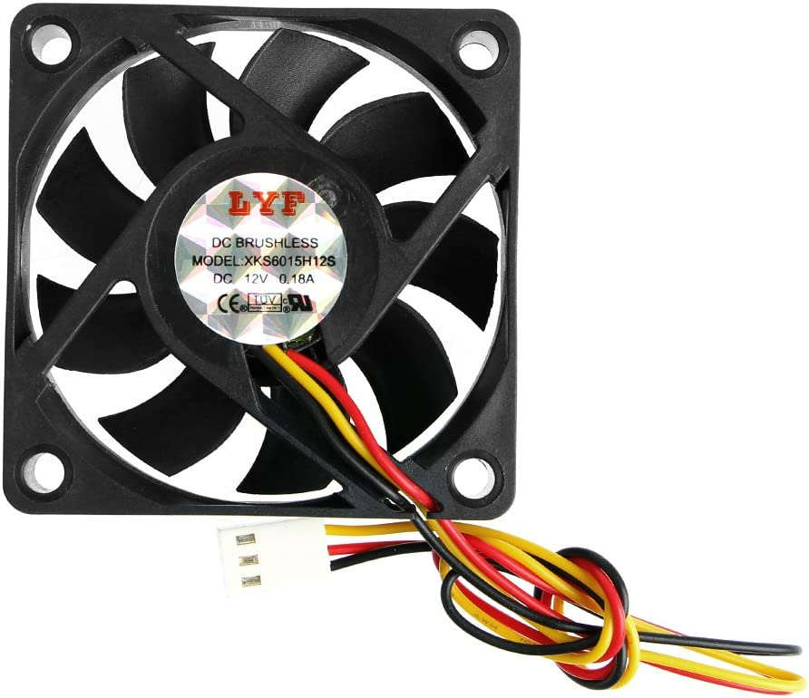 Hfbwjfhgdj DC 12V 3-pin 60x60x15mm PC PC Computer CPU System Sleeve-Bearing Ventola di raffreddamento 6015