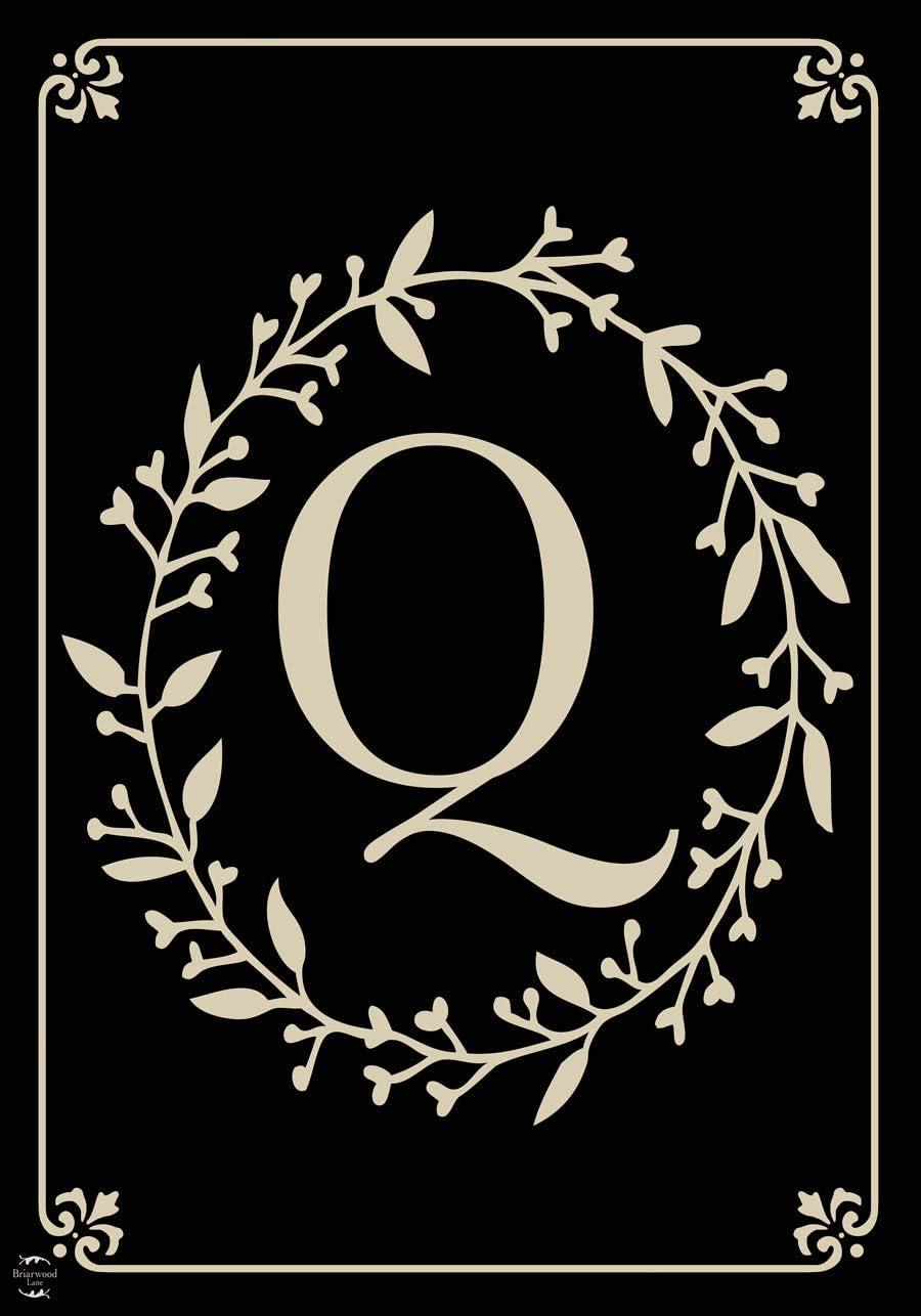 "Briarwood Lane Classic Monogram Letter Q Garden Flag Everyday 12.5"" x 18"""