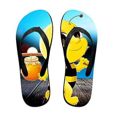 Honey Bee Unisex Comfortable Soft Beach Flip Flops Beach Sandals Flip-Flop Beach Flipflop Sandal Slippers For HomeBeach