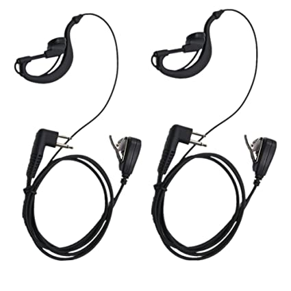 Amazon Com Lsgoodcare 2 Pin Advanced G Shape Earhook Police Headset