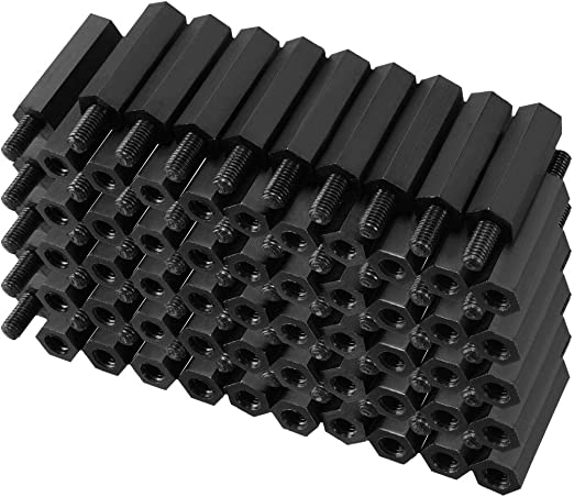 uxcell 100Pcs M3 Female Thread Nylon Hex PCB Spacer Standoff Pillar Screw Nut