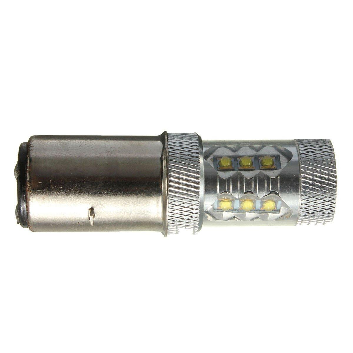 ATV ampoule de phare SODIAL R 80W BA20D H6 Blanc 16 LED Moto Moto Mobylette