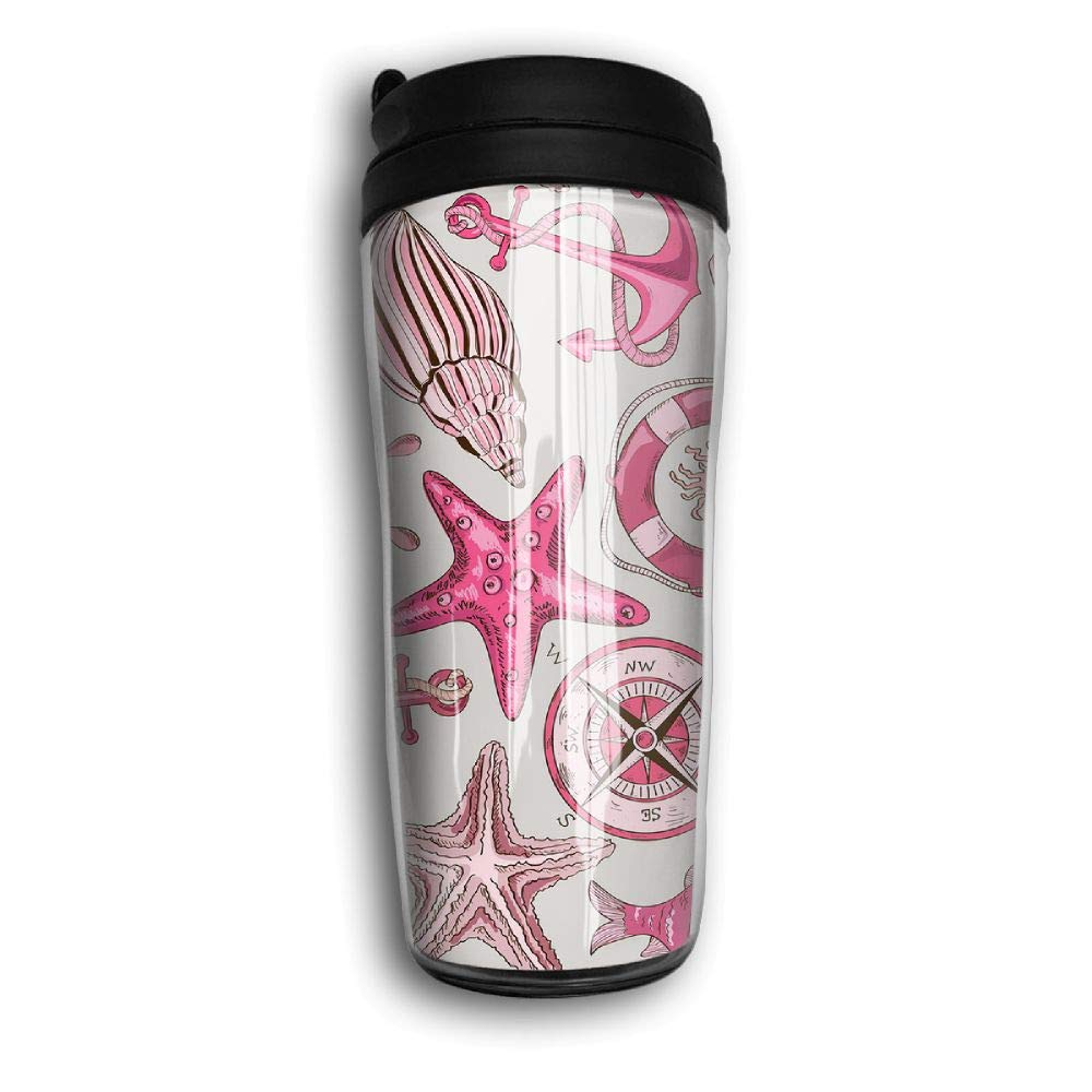 Xyou Sea Animals and Nautical Stainless Lined Coffee Tumbler, 12-Ounce,Vacuum Insulated Tumbler,Travel Mugs.