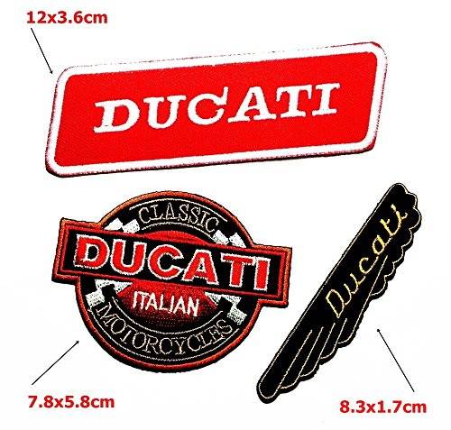 Set MOTORCYCLES0228 Ducati cassic italian Motorcycles Biker Racing Patch Sew Iron on Logo Embroidered Badge Sign Emblem Costume BY Dreamhigh_skyland
