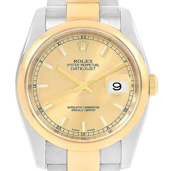Rolex 116203 Datejust Automatic-Self-Wind - Reloj Masculino (Certificado de autenticidad)