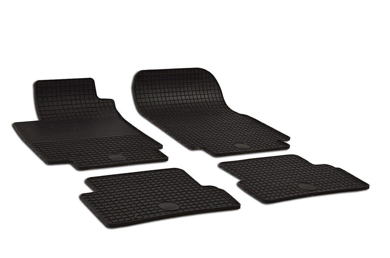 Noir Tapis DE Sol en Caoutchouc Compatible avec Renault CAPTUR 2013-up 4 PCS J/&J AUTOMOTIVE