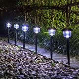 gigalumi Solar Luces Jardín al aire última intervensión LED Luz Paisaje/Camino lights-6Pack