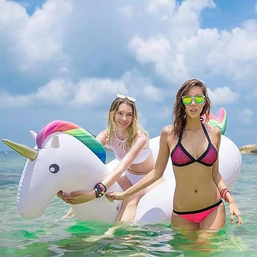 GTTT - Flotador de piscina grande de unicornio/unicornio para ...