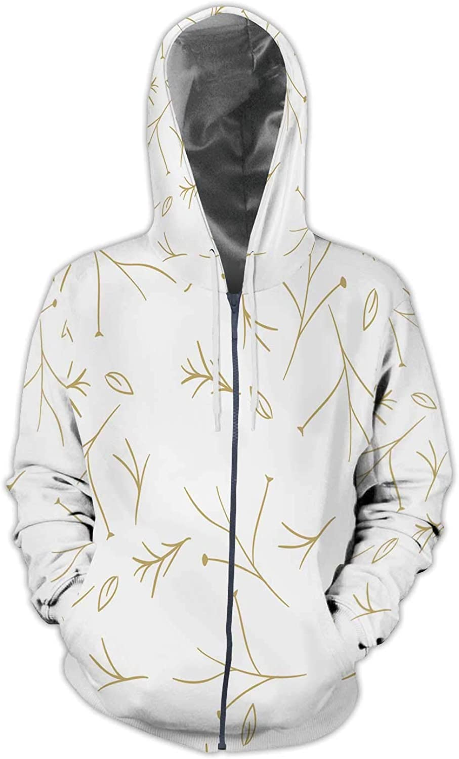 D Male with Brain on Background with Connecting dots and Lines,Mens Print 3D Fashion Hoodies Sweatshirts S