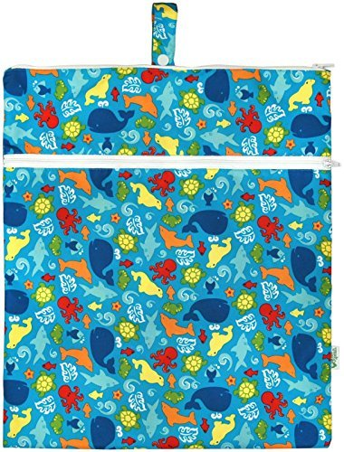 Green sprouts by i play. Waterproof Travel Wet Bag, Aqua Sealife, One Size