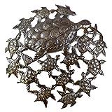 Sea Turtles, Ocean Art, Haiti Steel Drum, Turtle Wall Art Home Decor 23.5″ X 23.5″ For Sale