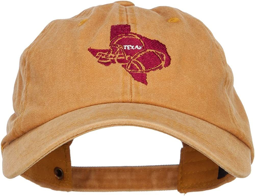 e4Hats.com Texas Football State Map Embroidered Unstructured Cap