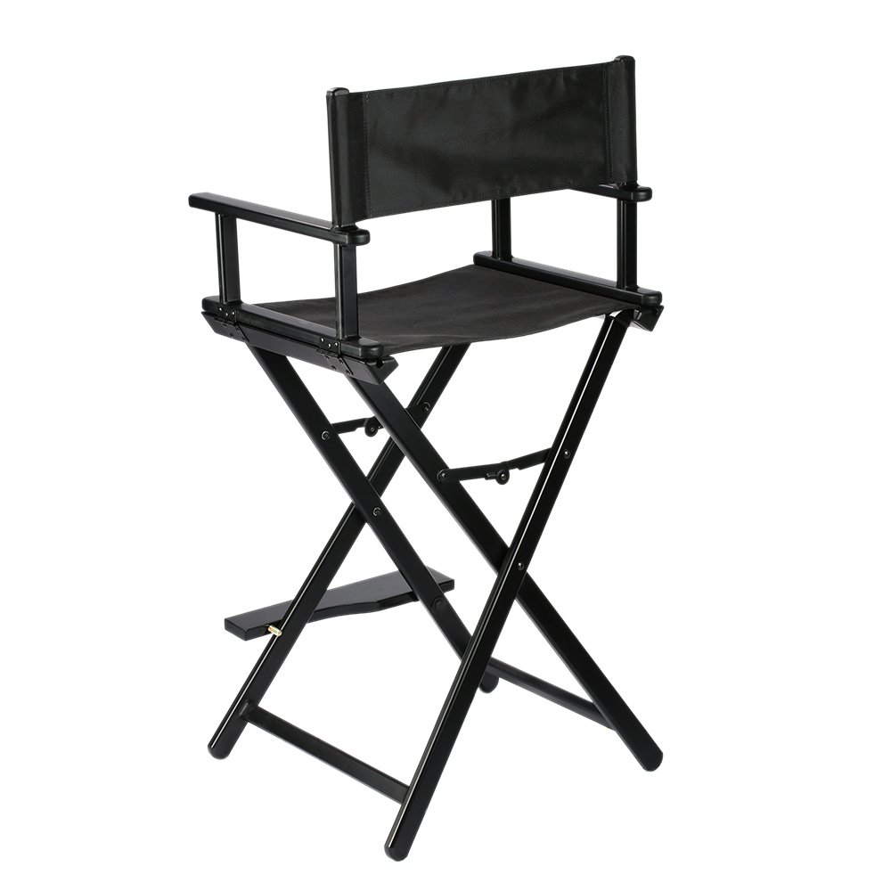 Back of directors chairs - Anself Professional Makeup Artist Director S Chair Aluminum Folding Mua Black Chair