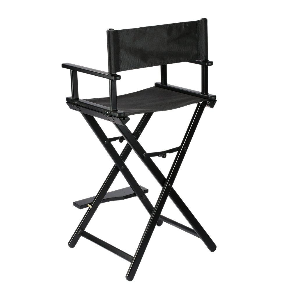 Makeup Artist Foldable Director Chair Aluminum Frame Light Weight Black