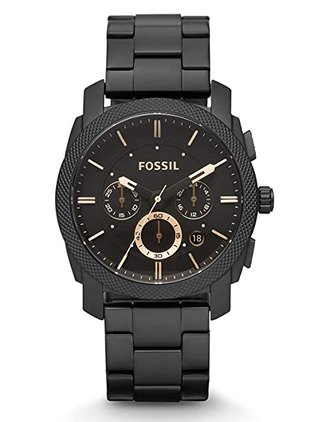 Fossil FS4682 Machine Chronograph Black Dial Men's Watch Men at amazon