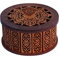 Etno Motif Wooden Jewelry Box Decorative Carved Case Ukrainian Handmade Wooden Bohemian Box for Jewelry. Great Gift
