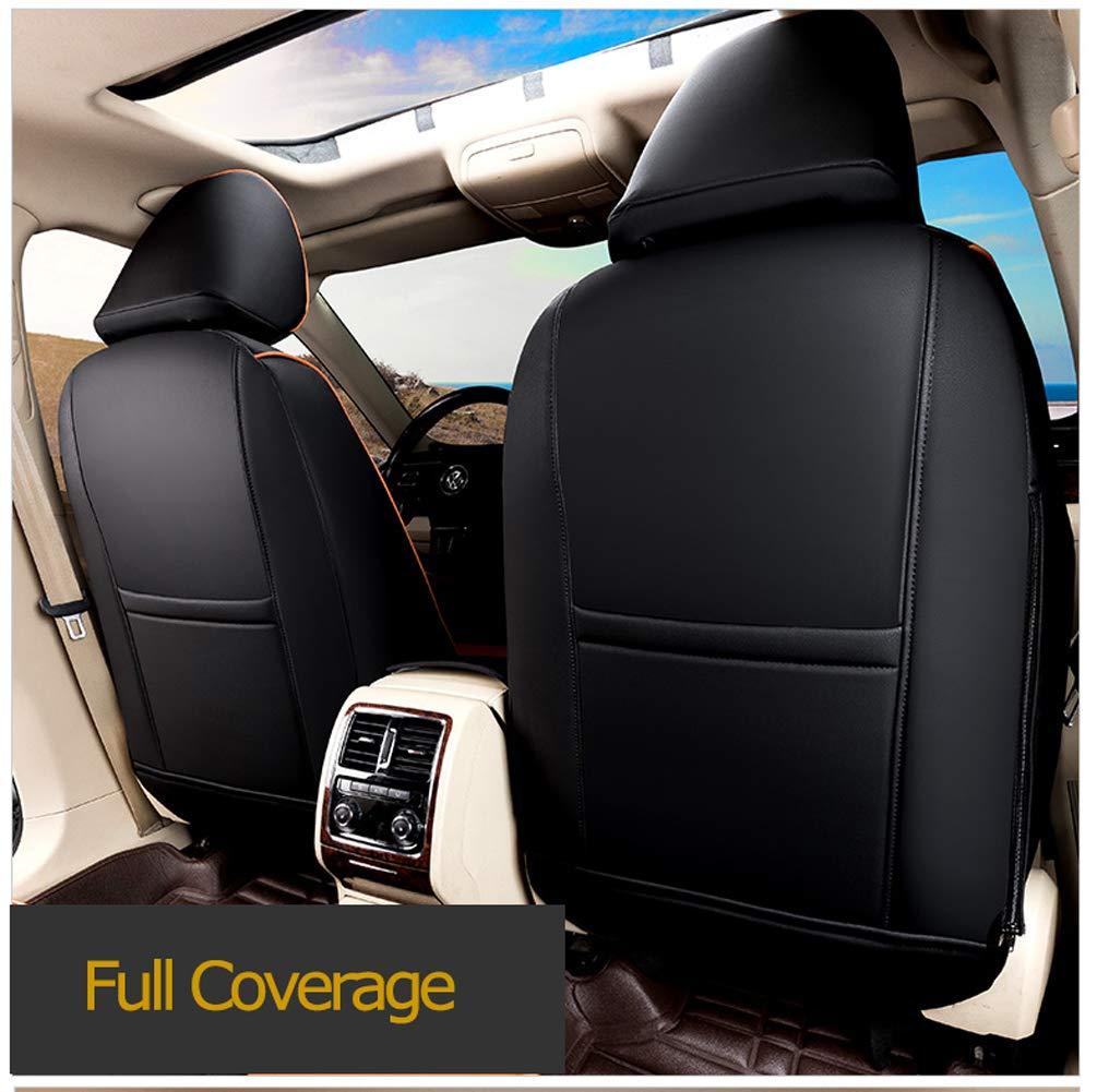 Lingyue Leatherette Custom Fit Car Seat Cover Full Set for RAV4 Limited XLE SE Platinum Adventure 2013 2014 2015 2016 2017 2018 Beige Color Airbag Compatible NOT for EV OR Hybrid