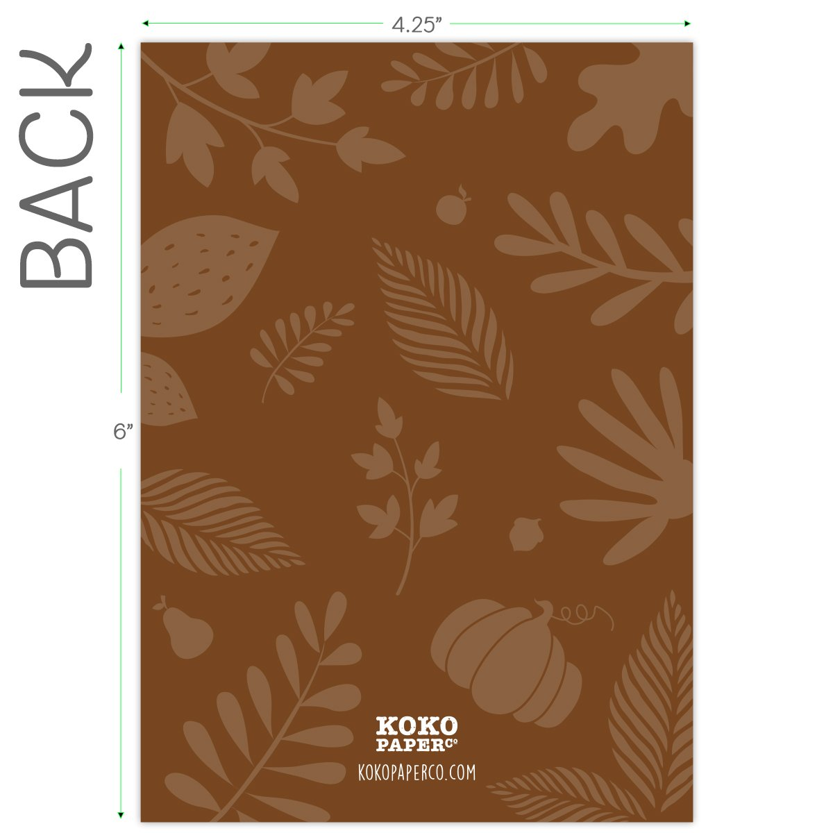 Koko Paper Co Fall Invitations in Autumn Colors with Pumpkin, Fruits and Florals. 25 Fill In Style Cards and Envelopes for Thanksgiving, Harvest Party, Birthday, Engagement, Bridal and Baby Shower, or by Koko Paper Co (Image #6)