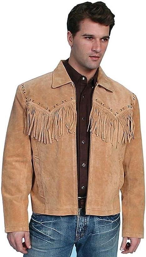 Scully Men's Boar Suede Fringe Jacket 221 19