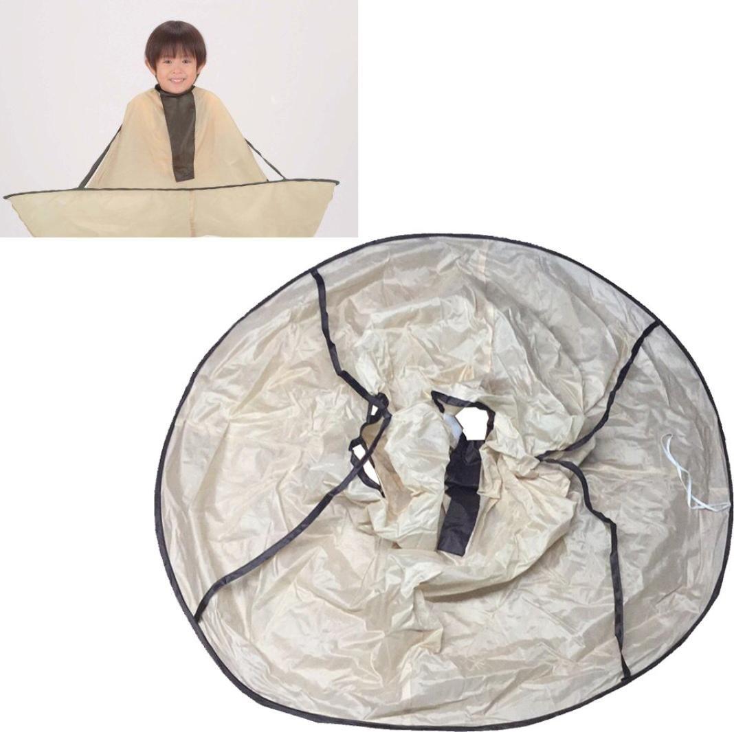 HKFV Haarschneideumhang Friseurumhang Erwachsener Haarschneiden Schirm Umhang Faltbar Haarschneideumhang Friseursalon Umbrella Cape für Haarschnitt Cloak Friseur Schürze HKFV-3824