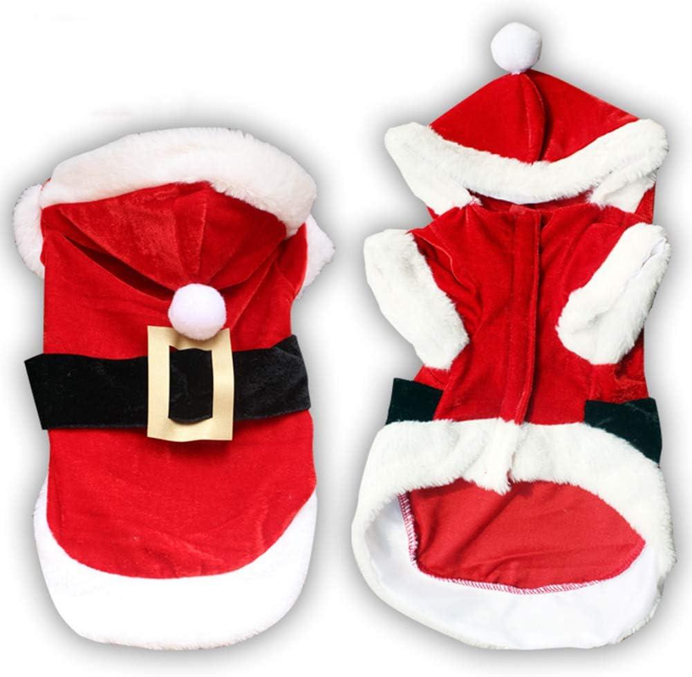 Smoro Ropa para Perros de Navidad para Perros pequeños Traje de Perro de Santa Capa para Mascotas caniche Yorkies Chihuahua Ropa