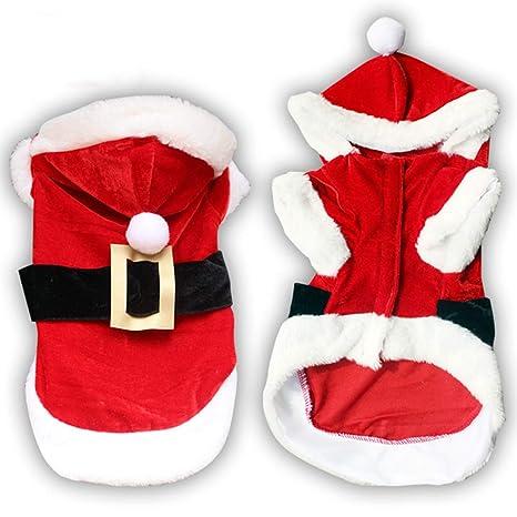 Vestiti Di Natale Per Cani.Smoro Vestiti Per Cani Di Natale Per Cani Di Piccola Taglia Cane Santa Costume Pet Cappotto Barboncino Yorkies Chihuahua Vestiti