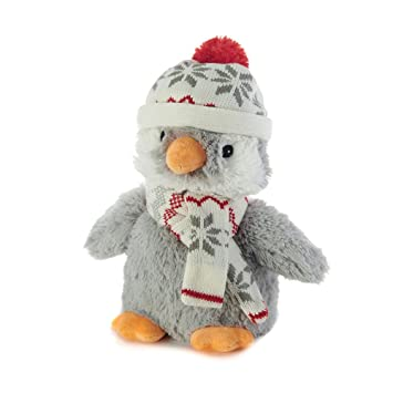 Warmies Cozy Plush Penguin With Hat And Scarf
