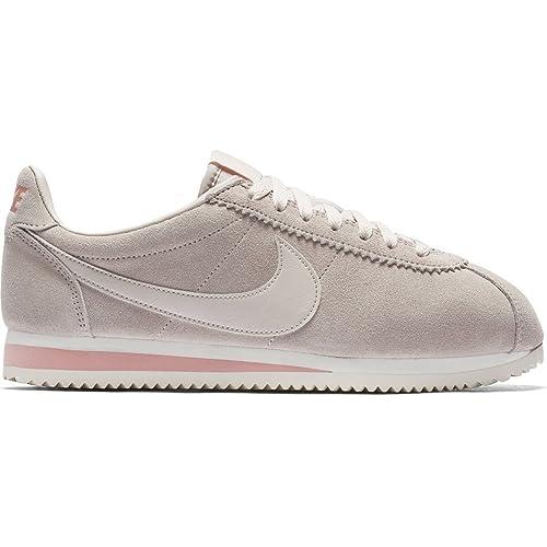 Zapatillas Nike - Wmns Classic Cortez Suede Beige/Beige/Coral Talla: 37,5: Amazon.es: Zapatos y complementos