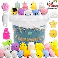 POKONBOY 25 Pack Mochi Squishy Toys Mini Animal Squishies Easter Party Favors for Kids Bulk Mini Kawaii Squishies Mochi…
