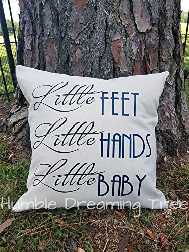 Flowershave357 Little Feet Hands Baby So Much to Say DMB Dave Matthews Band Pillow Cover 18x18 Baby Shower Newborn Nursery Gift