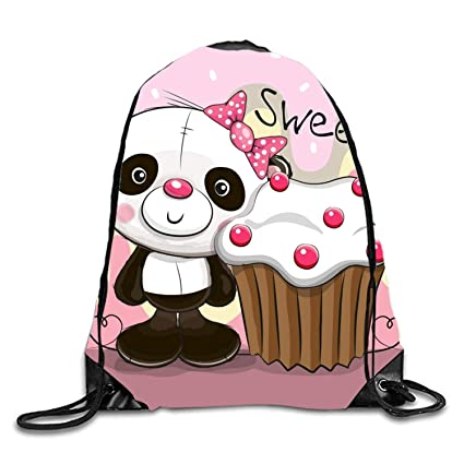 Amazon greeting card panda with cake cartoon gift candy greeting card panda with cake cartoon gift candy drawstring bags pouch m4hsunfo