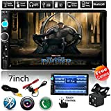 Car Rear View Camera + Cavogin 7 inch Double Din Touchscreen In Dash Stereo Car Receiver Audio Video Player Bluetooth FM Radio Mp3 MP5 / TF / USB / AUX / Steering wheel controls + Remote Control