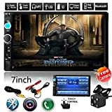 "Car Rear View Camera + Cavogin 7"" inch Double Din Touchscreen In Dash Stereo Car Receiver Audio Video Player Bluetooth FM Radio Mp3 MP5 / TF / USB / AUX / Steering wheel controls + Remote Control"