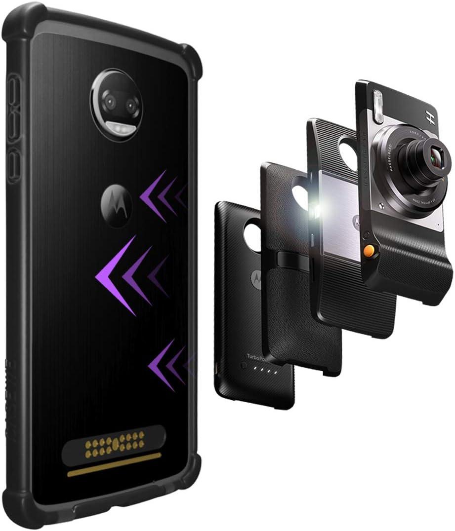 CaseWe - Carcasa Protectora para Motorola Moto Z2 Play (Compatible con Moto Mods), Color Negro Mate: Amazon.es: Electrónica