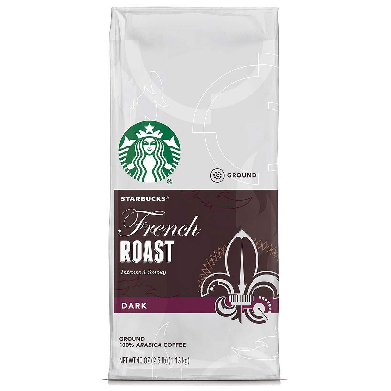 2 Packs of 40 Oz Starbucks French Roast Whole Bean Coffee = 2 x 40 Oz = 80 Oz by Starbucks (Image #1)