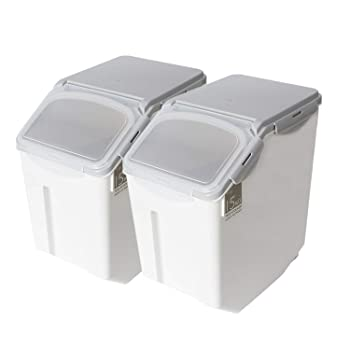 Rice Storage Container with Wheels Seal Locking Lid