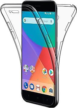 AROYI Funda Xiaomi Mi A1, Funda Xiaomi Mi 5X, Transparente Silicona TPU Carcasa Doble Cara 360 Grados Full Body Fundas para Xiaomi Mi A1/ Xiaomi Mi 5X Funda Cover Case: Amazon.es: Electrónica