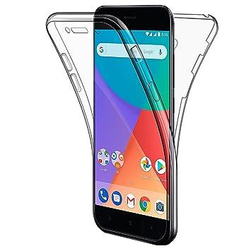 AROYI Funda Xiaomi Mi A1, Funda Xiaomi Mi 5X, Transparente Silicona TPU Carcasa Doble Cara 360 Grados Full Body Fundas para Xiaomi Mi A1/ Xiaomi Mi 5X ...