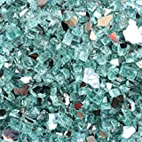 Stanbroil 10-Pound 1/2 Inch Fire Glass for Fireplace Fire Pit Light Green Reflective