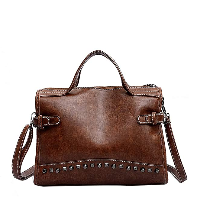 Amazon.com: Crossbody Bags for Women Punk Studded Purse Purses Leather Satchel Bags Shoulder Bag Handbag: Shoes