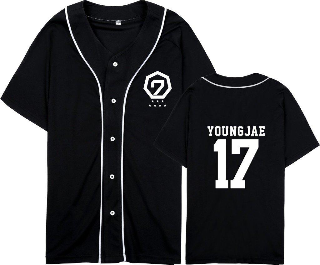 GOT7 Fly In Seoul Same Style T-Shirt BamBam Mark Jackson JB Jr Tee Shirt S Youngjae Black
