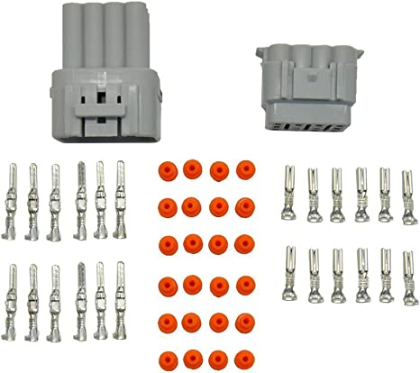 WGCD Waterproof Electrical Wire Cable 12 Pin Way Connector Plug 10 Kit