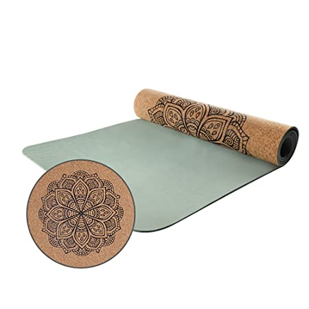 LQBDJYJD Esterilla de Yoga, 6 mm de Grosor, Amplia, de Alta ...