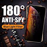 PERFECTSIGHT Privacy Screen Protector Compatible Apple iPhone Xs Max 2018-55% Anti Glare Anti Spy Blue Light Filter Tempered Glass (6.5 inch)