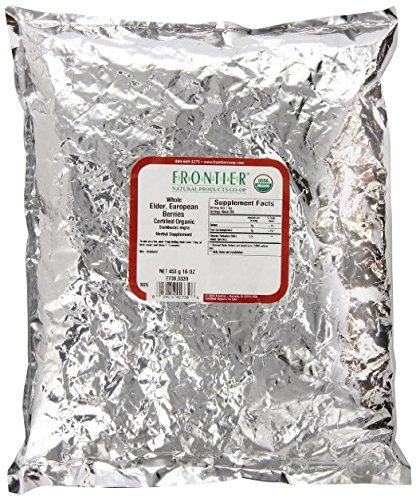 Frontier Elder Berries 1 Lb Whole Organic - Pack of 2