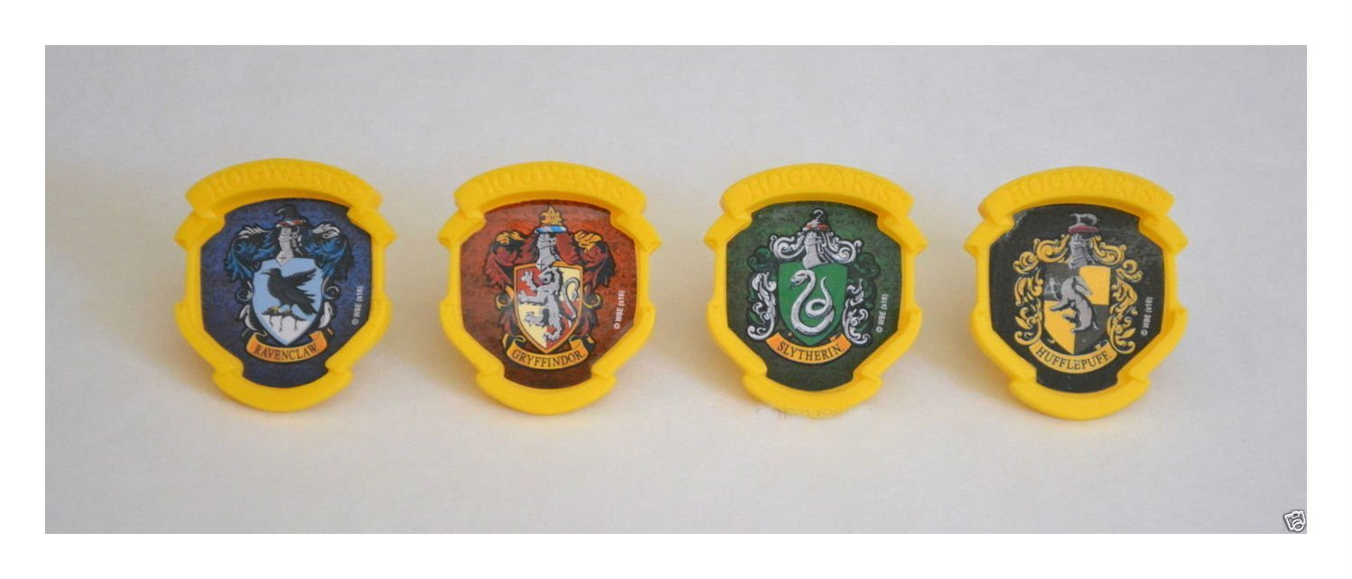 12 Harry Potter Hogwarts Houses Cup Cake Rings Topper Party Goody Favor Supply na