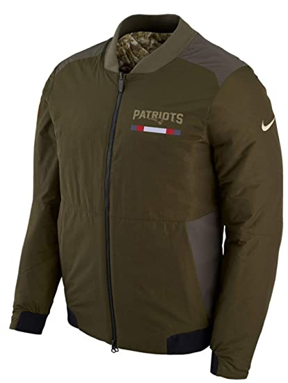 a5b7835b515 New England Patriots NFL Salute to Service Men s Reversible Bomber Jacket (X -Large)