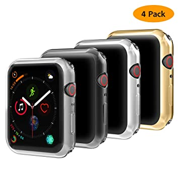 Hianjoo 4 Piezas Funda Compatible con Apple Watch 44mm, Suave TPU ...